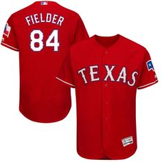 Prince Fielder Texas Rangers Majestic Alternate Flex Base Authentic Collection Player Jersey - Scarlet - $198.99