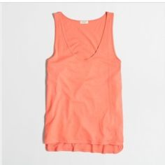 J. Crew Cotton Modal Tank Thin and lightweight tank. Perfect for layering. Fits like a small/medium. J. Crew Tops Tank Tops