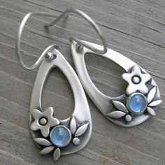 Summer Happiness Blue Spinel Sterling Silver Earrings by westbyron, $68.00