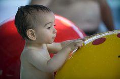 Trop rigolo les champigons magique de la piscine couverte Balnéoh! Les tout-petits peuvent s'amuser en toute tranquillité dans une ambiance à 29°