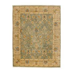ethanallen.com - kerman garden rug, blue/tan   ethan allen   furniture   interior design $1029