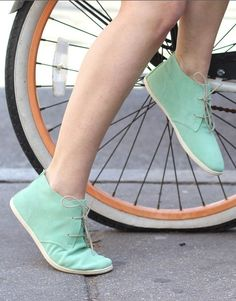 Mint loafers