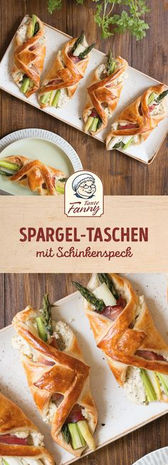 Spargel-Taschen # Food and Drink menu healthy recipes Drink Recipes Nonalcoholic, No Cook Appetizers, Food Tags, Snack Recipes, Healthy Recipes, Low Calorie Snacks, Alcohol Recipes, Food Humor, Party Snacks