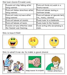 student behavior form classroom-management-behavior