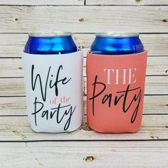 the party STOCK , wife of the party bachelorette party can coolers / bachelorette party favors / not sold in sets WOPS-O Britt Bachelorette, Bachelorette Party Favors, Wedding Party Favors, Bridal Shower Favors, Bachelorette Weekend, Cooler Designs, Our Wedding, Wedding Ideas, Dream Wedding