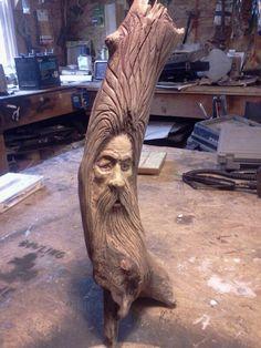 WoodSpirit carved by Robert Dowling Jr