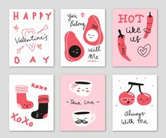 I love a limited color palette! Valentines Card Design, Valentines Day Drawing, Bear Valentines, Valentine Day Cards, Happy Valentines Day, Valentines Illustration, Card Drawing, Love Posters, Doodle Designs