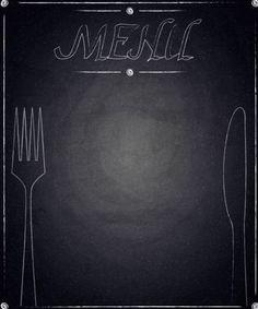 Restaurant menu with blackboard background vector 13 Menu Card Design, Food Menu Design, Food Poster Design, Diner Menu, Cafe Menu, Starting A Food Truck, Blackboard Menu, Molduras Vintage, Monthly Menu