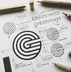 G Logo Design, Icon Design, Logo Inspiration, Logo Branding, Font Logo, Logo Simple, Logo Sketches, Corporate Design, Logo Process
