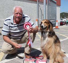 Reserve Best in Show Tess with Mr Thomas