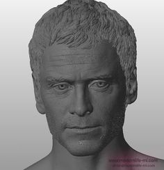 Modern Life Michael Fassbender as Magneto. The head sculpt is going to be 3D…