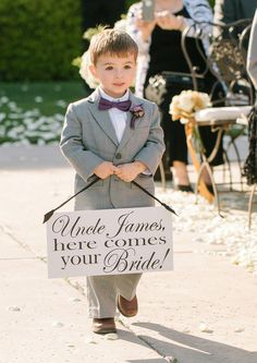 here comes your bride...adorable!