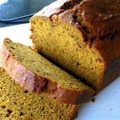 Super Moist Pumpkin Bread with coconut milk Allrecipes.com