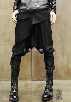 Baggy Pants Wholesale - Buy Brand 2013 de los nuevos hombres Personalidad Yuppie Baggy Diseño Oblique frío Pantalones Harem, novedad Calidad negros pantalones largos flacos altos, $ 38.13 | DHgate