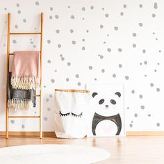 pair of EYES in Circle decal sticker vinyl wall art children room decoration E2