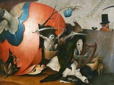 Hieronymus Bosch, Temptations of Saint Anthony detail