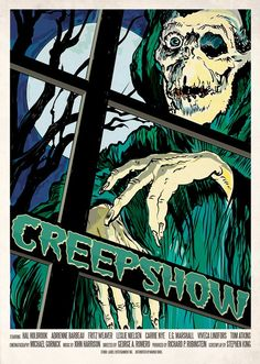 CREEPSHOW! | Madamadari.com Poster inspired by the 1982 horror anthology film directed by George A. Romero and written by Stephen King. Created in Illustrator and http://www.redbubble.com/people/zombride/works/11587552-creepshow