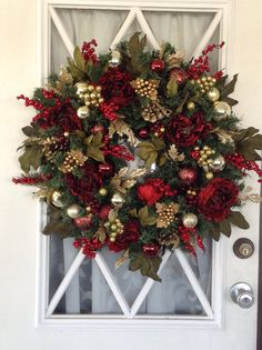 Christmas Wreath With Light Peony Artificial 24 Inch And Up 35 Led