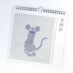 Fußabdruck Maus - November - Kalender mit Fußabdrücken