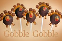 Turkey Cake Pops by Bakerella, via Flickr  @Phyllis Hafley Maybe we should make these?