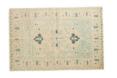 4x6.5 Vintage Distressed Oushak Rug - Old New House