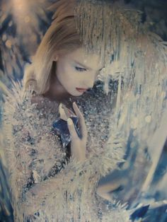 """afairyheart: """" Queen of ice and snow / Karen Cox ICE PRINCESS Thierry Mugler """""""
