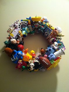 Happy Meal Toy Wreath