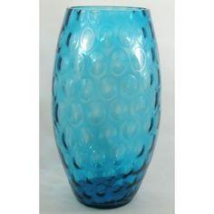 Borske Sklo Union Large Olive Blu Glass Vase (on www.antiqueglassdealer.com)