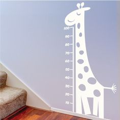 Childrens Measuring Giraffe Wall Decal Childrens Wall by Wallboss Nursery Wall Stickers, Childrens Wall Stickers, Wall Decals, Wall Vinyl, Painted Boards, Wall Prints, Decoration, At Least, Shopping