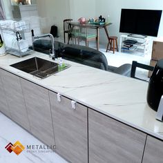 Metallic Epoxy Singapore specialises in metallic epoxy coatings and installations, offering customisable solutions for floors and countertops in Singapore. Khaki Coat, Epoxy Countertop, Gold Marble, Daily Wear, Singapore, Metallic, Design Ideas, Drop, Flooring