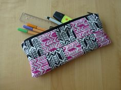 self made pencil case Bookmarks, Pencil, Crafts, Bags, Handbags, Manualidades, Marque Page, Handmade Crafts, Craft