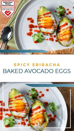 Spice up breakfast with Spicy Sriracha Baked Avocado Eggs, a high-protein, heart-healthy way to start the day.