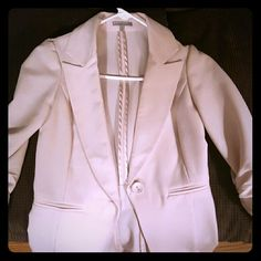 Charlotte Russe pale pink/cream blazer Quater length sleeved, with rouching. Slim fitting Charlotte Russe Jackets & Coats Blazers