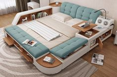Latest Cozy Bed Modern Bedroom Furniture In Karachi Bedroom Bed Design, Bed Linen Design, Modern Bedroom Design, Small Room Bedroom, Cozy Bedroom, Bedroom Decor, Modern Bedroom Furniture, Furniture Design, Small Space Interior Design