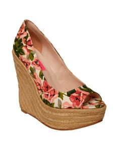 VALL PEEP TOE WEDGE - Betsey Johnson - StyleSays