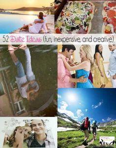52 Date Ideas {fun, inexpensive, and creative} @Coralie Robert Robert - Utah Coupon Deals #date #couples