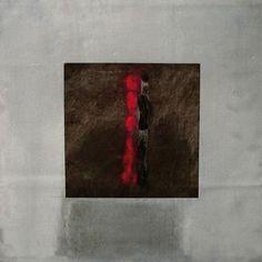 Schwarz Rot - Bleibilder von Ute Latzke,Mixed Media: Blei, Acryl, MDF-Platte. #blei #lead #art #mixedmedia #graphic
