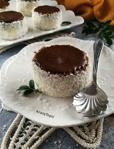 AranyTepsi: Hólabda Sweet Life, Diy Food, Tiramisu, Healthy Snacks, Sweet Treats, Cheesecake, Food And Drink, Pudding, Tasty