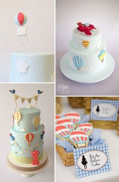 Hot Air Balloon Party Theme http://www.rosesandlace.co.uk/hot-air-balloon-party-theme/