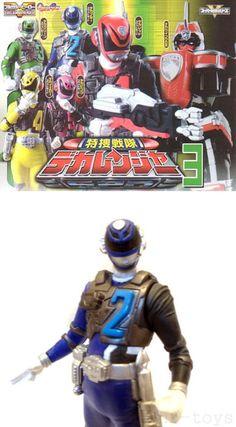 Power Rangers SPD Dekaranger SWAT Figure - Blue Ranger - Gashapon 3