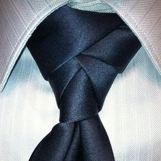 The eldredge knot. Another very cool knot for a guy to learn.