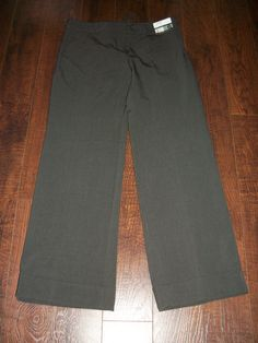 NWT NEW YORK & COMPANY NYCO STRETCH BROWN 7TH AVENUE PANT, SZ 6P. EXCELLENT #NEWYORKCOMPANY #DressPants