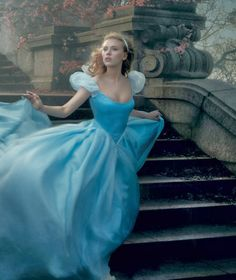 Its an image of Cinderella running away from the ball-running towards camera