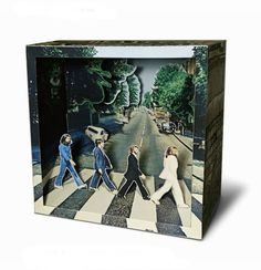 Tatebanko - The Beatles Abbey Road Shadow Box Kunst, Shadow Box Art, Abbey Road, Diy Paper, Paper Art, Paper Crafts, Tunnel Book, Licht Box, Japanese Paper