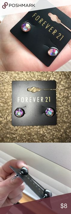 NWT Forever 21  diamond earrings New with tags. Beautiful reflecting colors. Forever 21 Jewelry Earrings