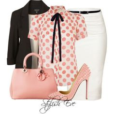 Stylish Eve Outfits 2013: Formal Wear with Pencil Skirts by christina carrera