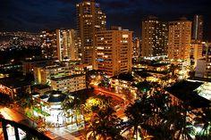 Downtown Honolulu at Night...
