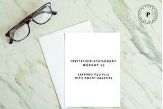 Invitation / Greeting Card Mockup by Poppy + Co on @creativemarket
