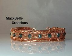 This tutorial includes full instructions for the Athena Wire Weave Bracelet at an intermediate or above wire work skill level. The tools/supplies needed are: 18 gauge round copper wire 20 gauge round copper wire (or size needed to fit through hole of bead/crystal you are using for project) 26 gauge copper weaving wire Chain Nose Pliers Round Nose Pliers Wire (Flush) Cutters (15-20) 3mm - 4mm round beads/crystals Eye Protection Optional: Bracelet Mandrel Small Spring Clamp Bench Block and…