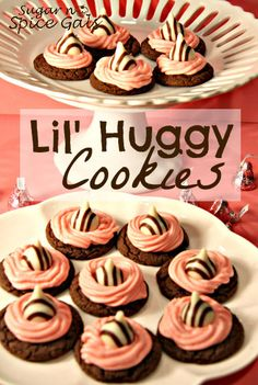 Spread the Valentine love with these Lil Huggy Cookies from Sugar n' Spice Gals  http://www.sugar-n-spicegals.com/2013/02/lil-huggy-cookies.html